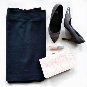 Talbots Wool Pencil Career Skirt Black Size 12P
